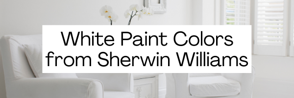 White Paint Colors from Sherwin Williams
