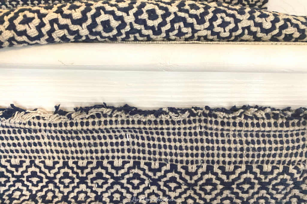 Installing a rug runner - joining two rugs