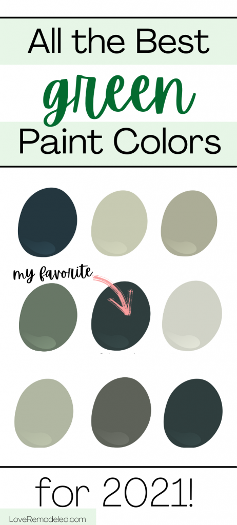green paint colors for home