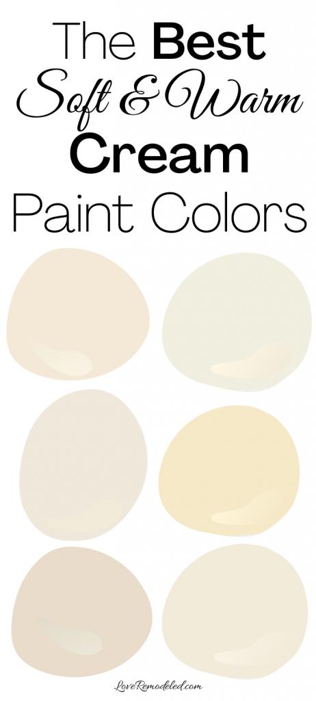 The Best Cream Paint Colors