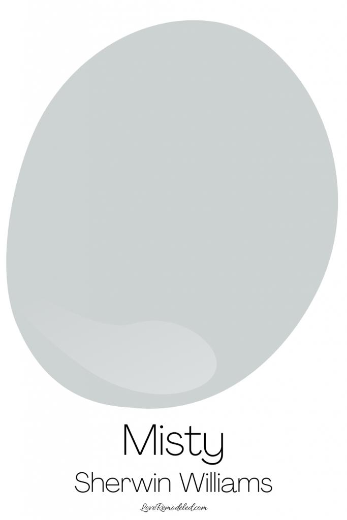 Blue Gray Paint Colors - Misty
