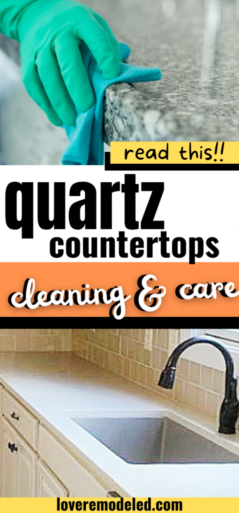 quartz countertop cleaning and care