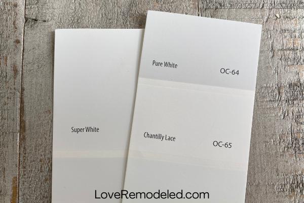 Super White vs. Chantilly Lace