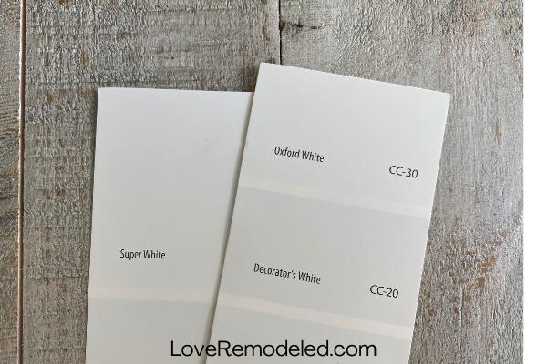 Super White vs. Decorator's White