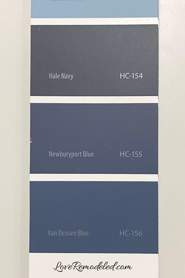 Van Deusen Blue, Hale Navy, Newportbury Blue