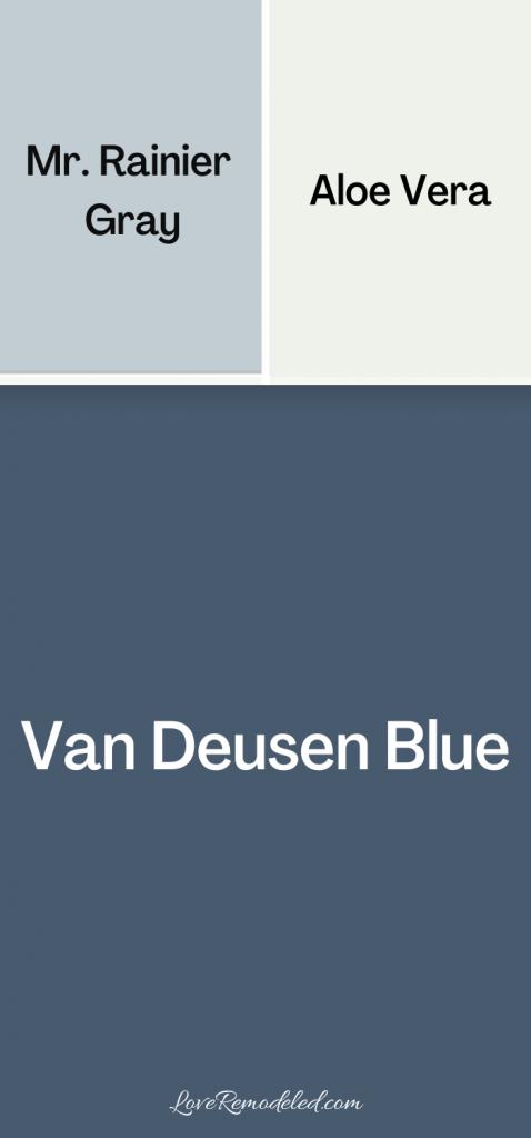 Van Deusen Blue coordinating colors - blues