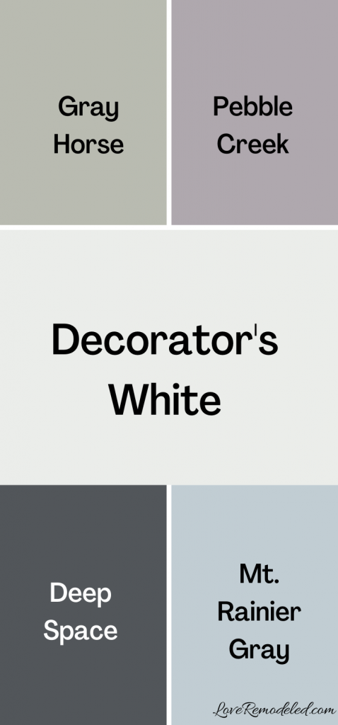 Decorator's White Coordinating Colors