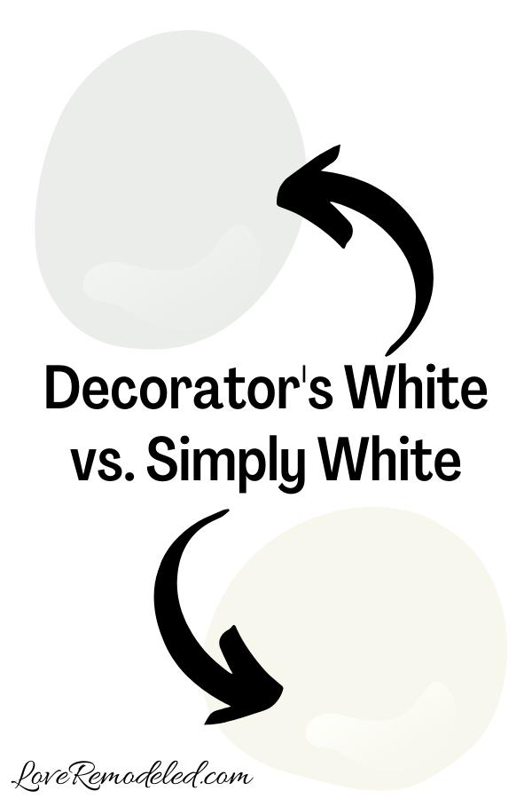Decorator's White vs. Simply White