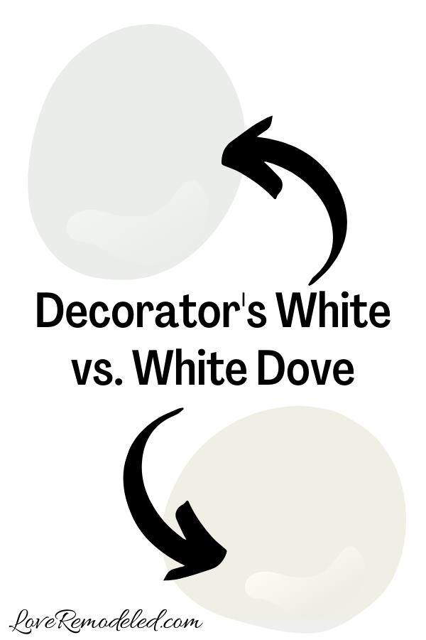 Decorator's White vs. White Dove