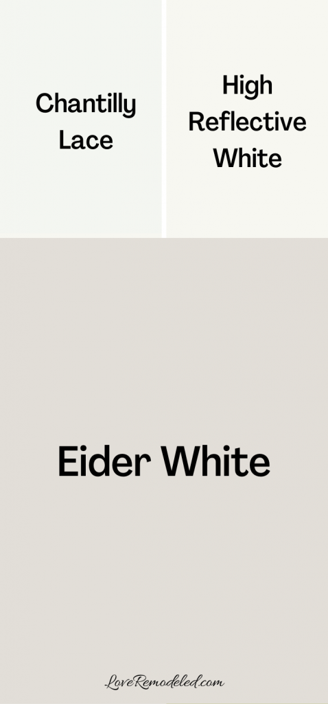 Eider White Trim Colors
