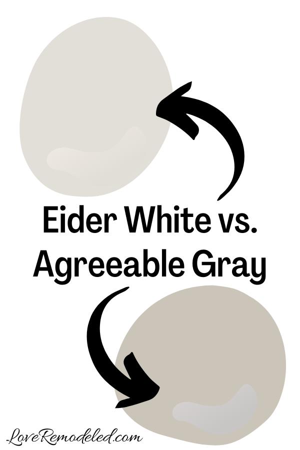 Eider White vs. Agreeable Gray