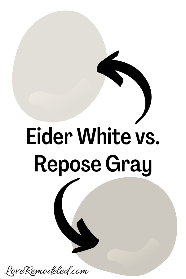 Eider White vs. Repose Gray