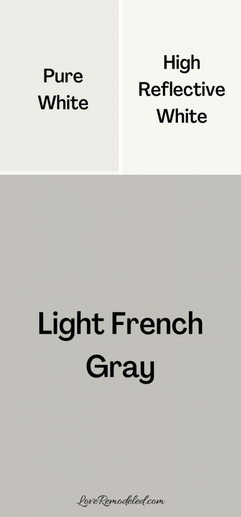 Light French Gray Trim Colors