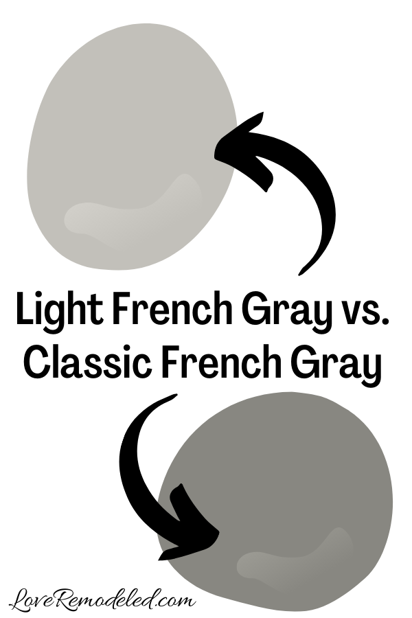Light French Gray vs. Classic French Gray