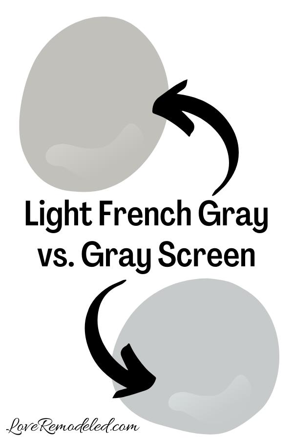 Light French Gray vs. Gray Screen
