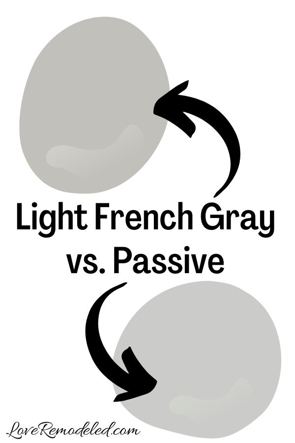 Light French Gray vs. Passive