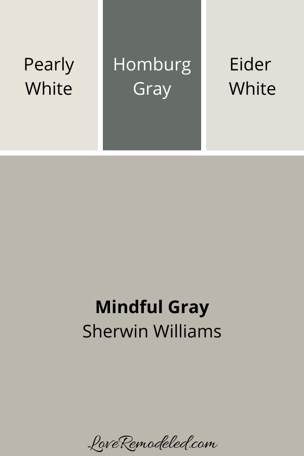 Sherwin Williams Colors that Go With Mindful Gray