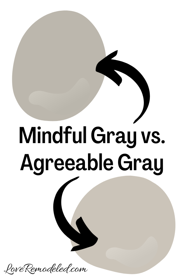 Sherwin Williams Mindful Gray vs. Agreeable Gray