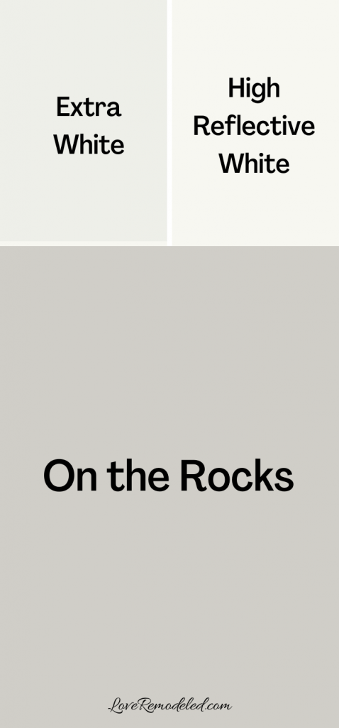 On the Rocks Sherwin Williams Trim Colors