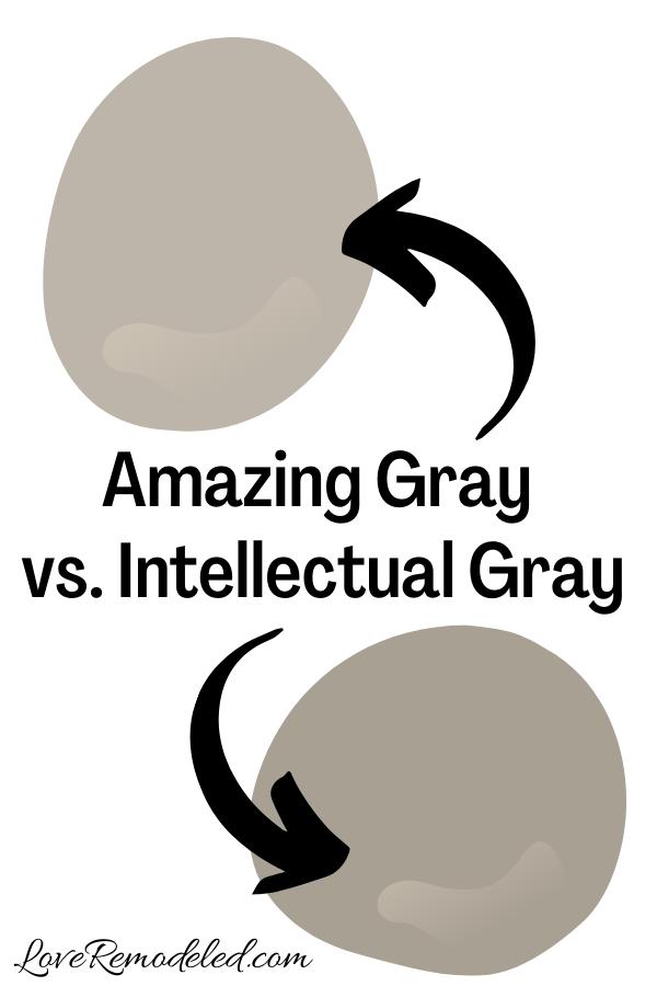 Sherwin Williams Amazing Gray vs. Intellectual Gray