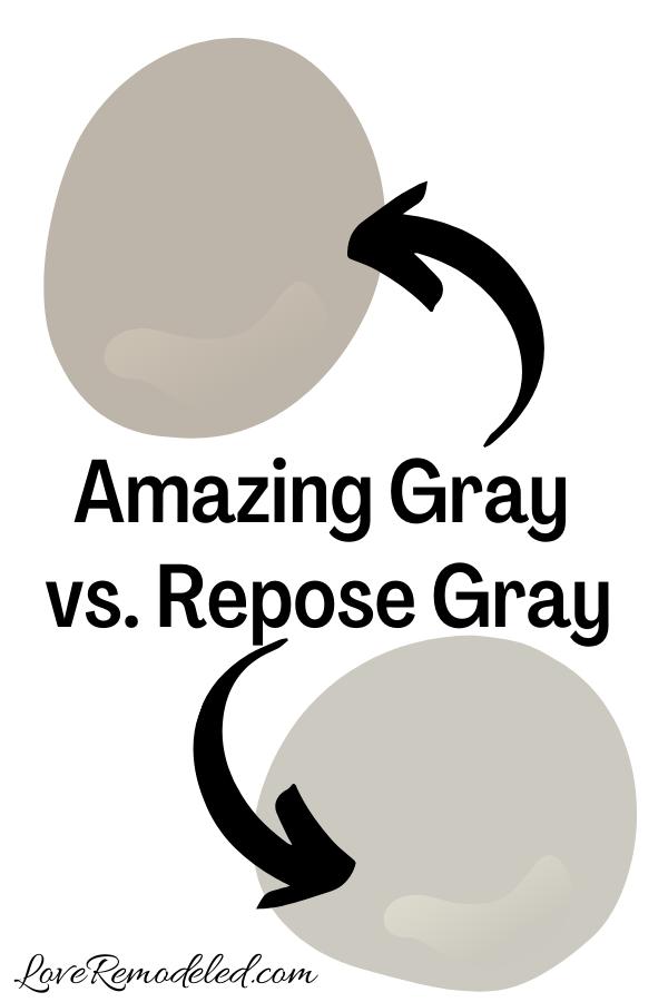 Sherwin Williams Amazing Gray vs. Repose Gray
