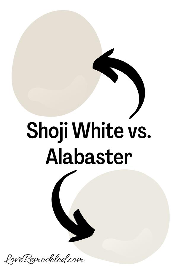 Shoji White vs. Alabaster