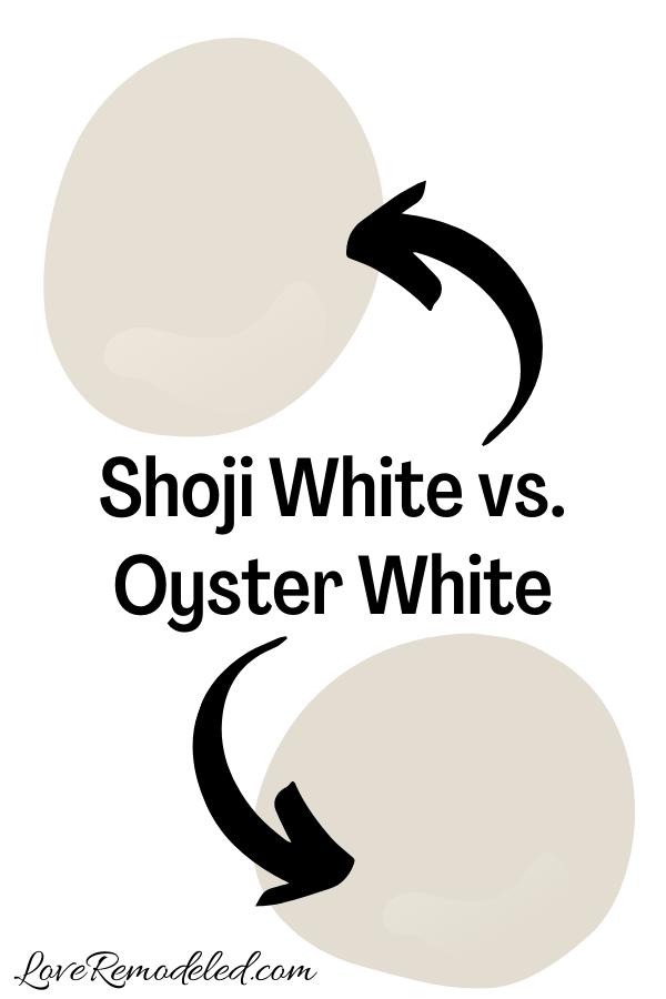 Shoji White vs. Oyster White