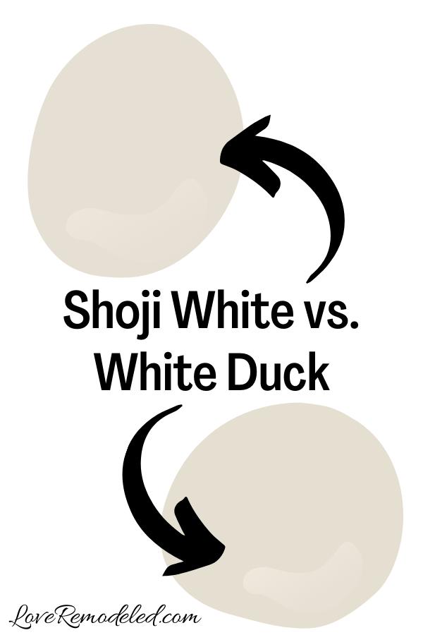 Shoji White vs. White Duck