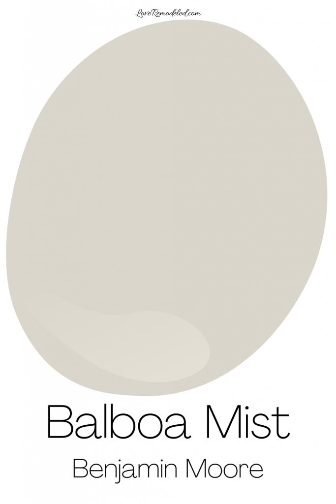 Balboa Mist Benjamin Moore Paint Drop