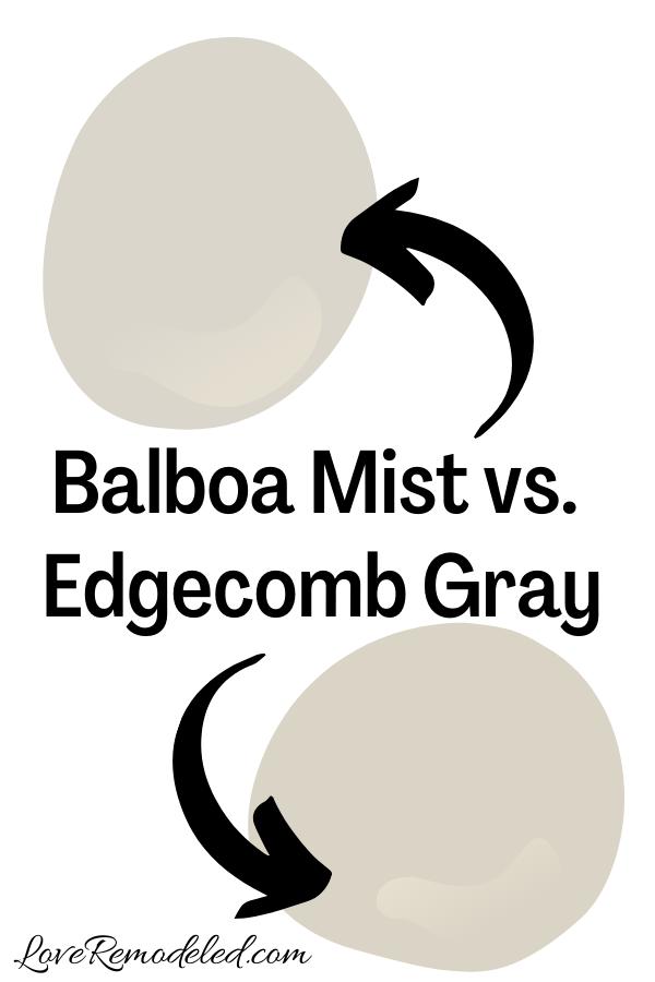 Benjamin Moore Balboa Mist vs. Edgecomb Gray