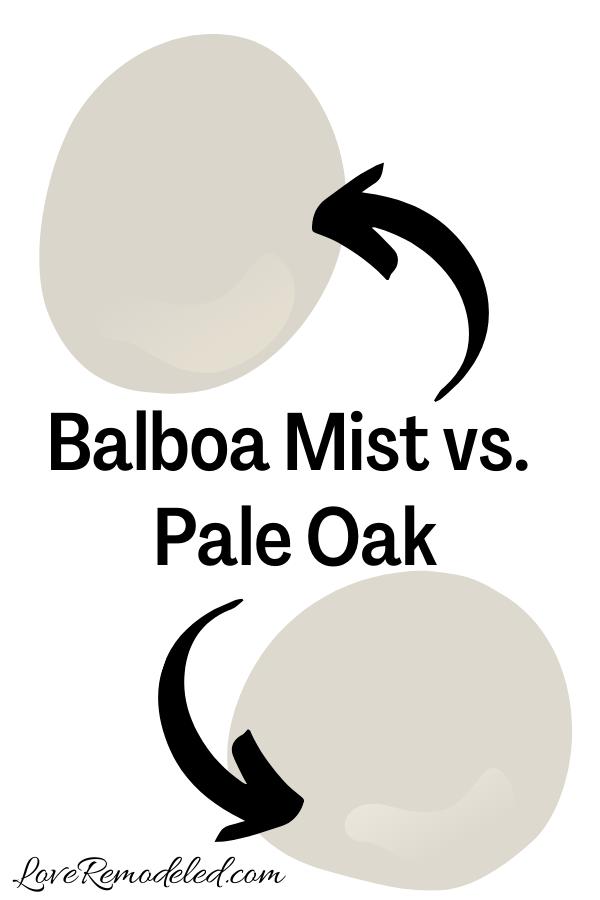Benjamin Moore Balboa Mist vs. Pale Oak