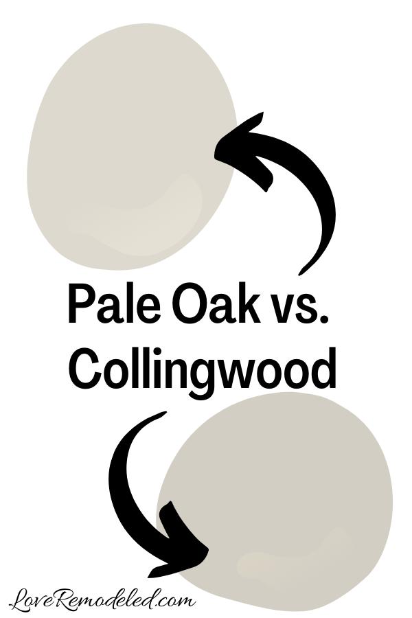 Benjamin Moore Pale Oak vs. Collingwood