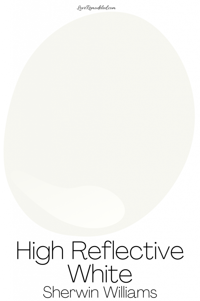 High Reflective White Sherwin Williams Paint Drop