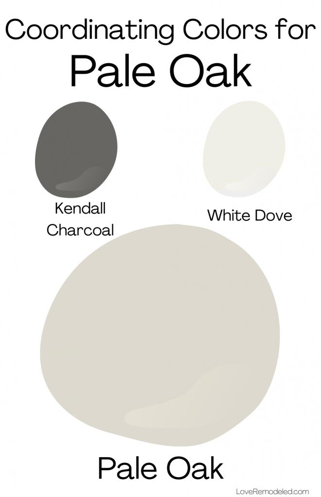 Pale Oak Benjamin Moore Coordinating Colors