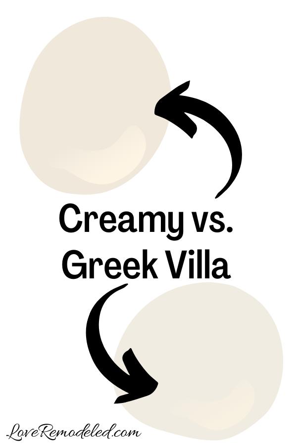 Sherwin Williams Creamy vs. Greek Villa