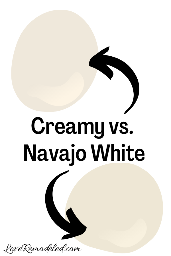 Sherwin Williams Creamy vs. Navajo White