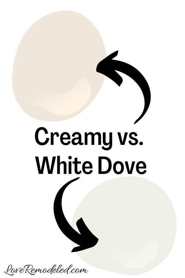 Sherwin Williams Creamy vs. White Dove