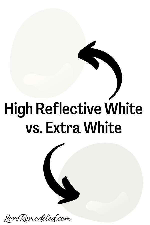 Sherwin Williams High Reflective White vs. Extra White