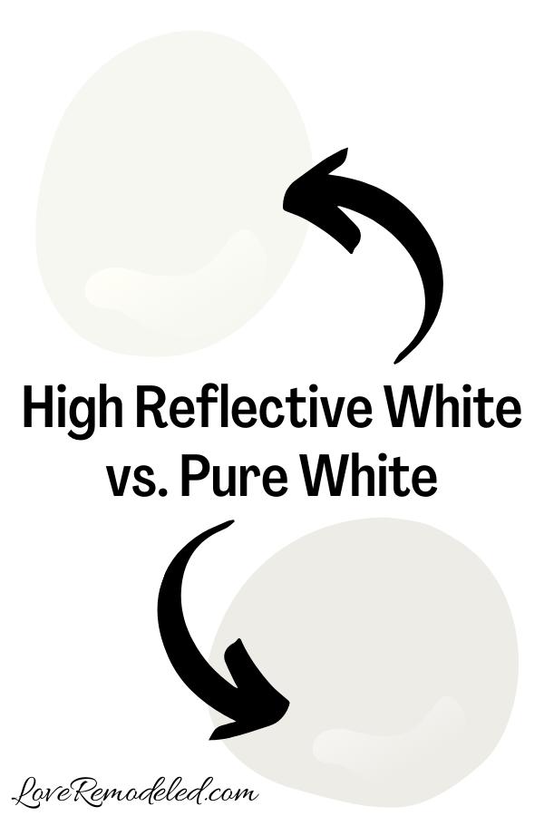 Sherwin Williams High Reflective White vs. Pure White