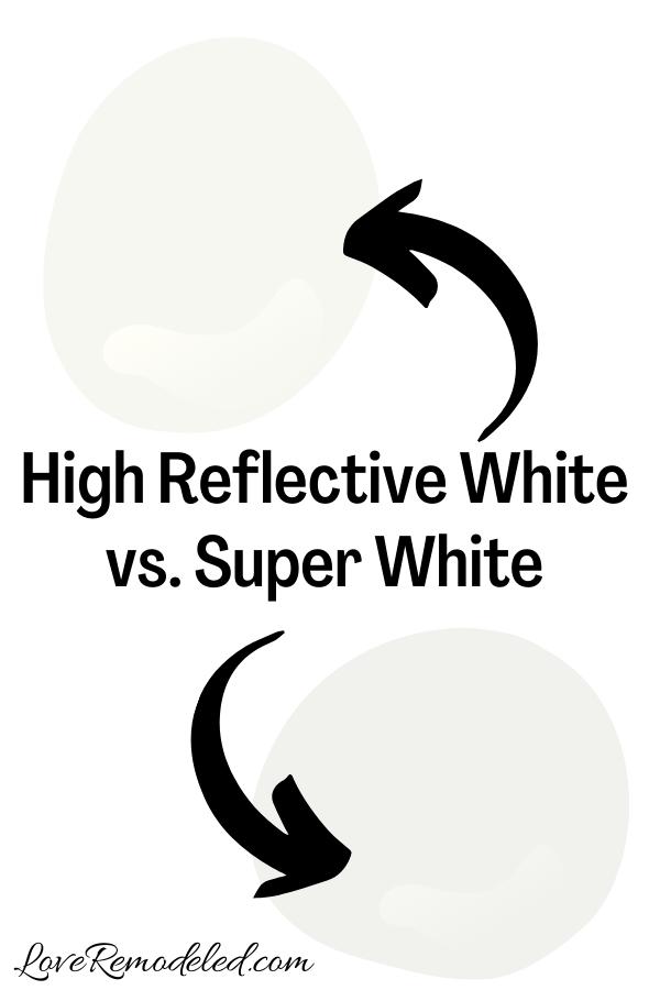 Sherwin Williams High Reflective White vs. Super White