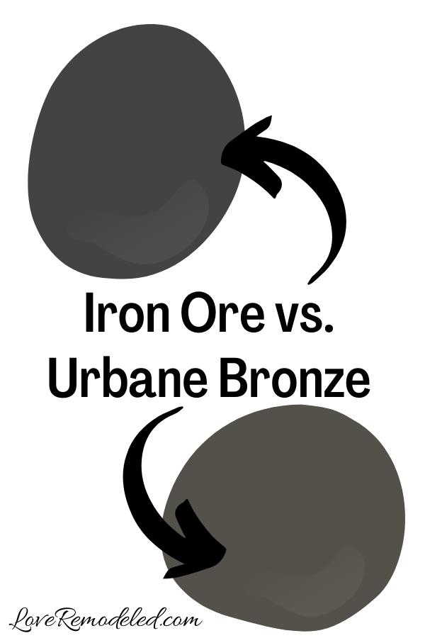 Iron Ore vs. Urbane Bronze