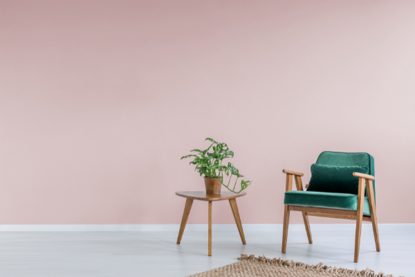 pink paint colors - rose and green
