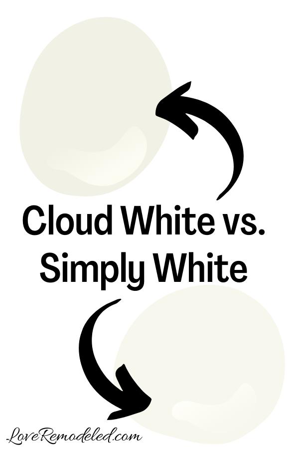 Cloud White vs. Simply White