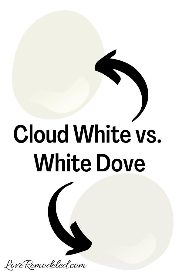 Cloud White vs. White Dove