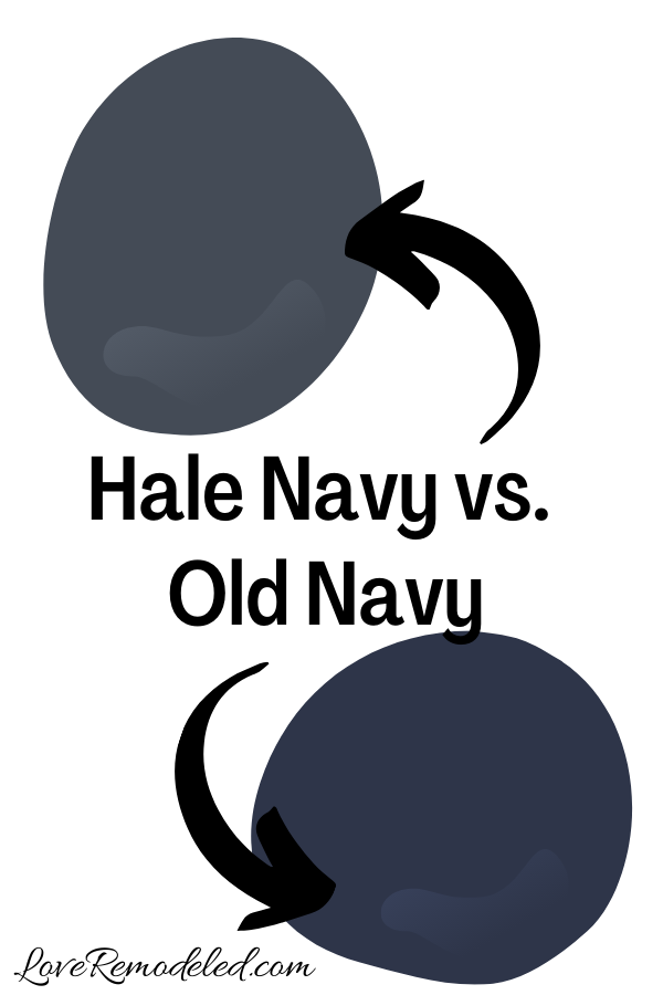 Benjamin Moore Hale Navy vs. Old Navy