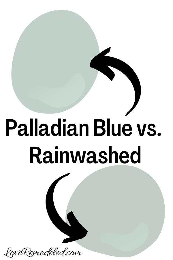 Benjamin Moore Palladian Blue vs. Rainwashed