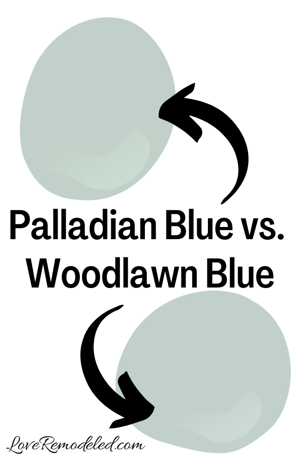 Benjamin Moore Palladian Blue vs. Woodlawn Blue