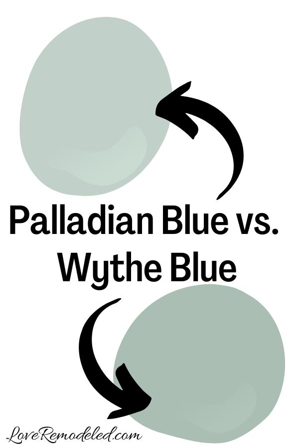 Benjamin Moore Palladian Blue vs. Wythe Blue