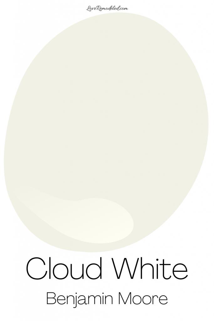 Cloud White, by benjamin moore, paint drop